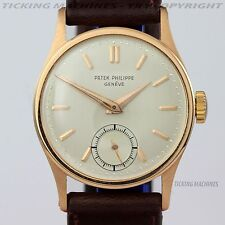 Patek Philippe Calatrava 96 18K Rose Gold Manual Wind Vintage 1950s