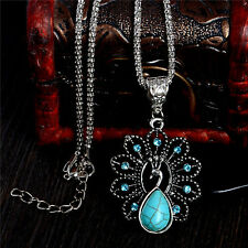 Wonderful Peacock Retro Turquoise Stone Bohemia Women's Necklace & Pendant