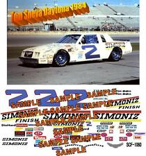 CD_1060 #2 Tom Sneva 1984 Simoniz Buick 1:24 Scale Decals