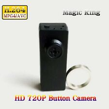 Faible lumière H. 264 HD 720P Mini DVR Spy Button Camera avec MAGIC RING controller