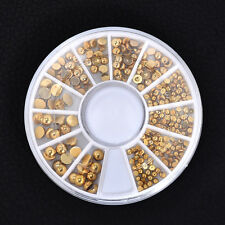 DIY Mixed Gold Color Decals 3D Rhinestone DIY Nail Art Stickers Decor Beauty W87