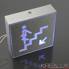 S008 Pannello indicatore SCALE a led luce BLU in alluminio