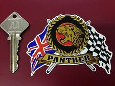 PANTHER Flags Scroll helmet classic motorcycle sticker