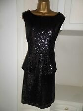 "GORGEOUS LINED SEQUINED DRESS BY PAPAYA ""OCCASION"" RANGE NWT SIZE UK 20 BUST 46"