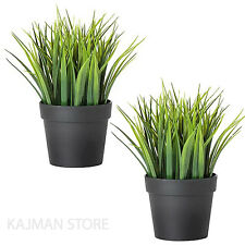 Green Grass Plants Plant Home Fake Garden in Pots Artificial 20cm IKEA FEJKA X2