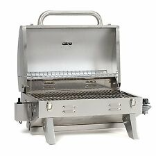NEW Aussie 205 Stainless Steel Tabletop Grill Outdoor Cooking Tailgate Portable