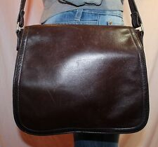 FOSSIL Brown Medium Leather Shoulder Hobo Tote Satchel Slouch Purse Bag