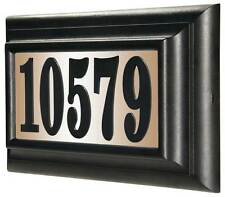 Lighted Address Sign in Black