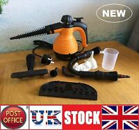 Electric Steam Cleaner Portable Hand Held Powerful Steamer Cleaning Set ORANGE