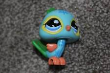 Littlest Pet Shop Peacock #1069 Blue Green Orange Postcard Bird LPS Toy Animal