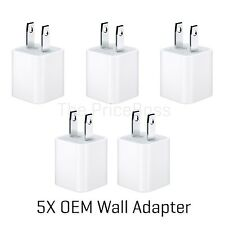 5X Genuine OEM USB Wall Charger Apple A1385 Charging Cube Adapter New