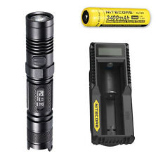 Nitecore P12 XM-L2 U2 Flashlight w/ UM10 Charger & NL189 Rechargeable Battery