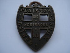 CWW1 VINTAGE PLAISTOW TRAINED NURSE BRONZE NURSES BADGE