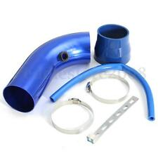 3''/75mm Inlet Blue Car Cold Air Intake Filter Aluminum Pipe Hose Tube Universal