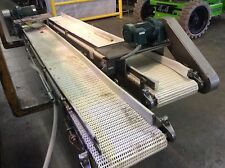 "12""Wx9'L STAINLESS STEEL FRAME FLUSH GRID BELT CONVEYOR 1/2hp SM-Cyclo Gearmotor"