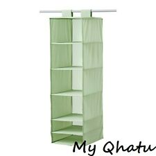 IKEA SKUBB ORGANIZER 6 STORAGE COMPARTMENTS HANGING LIGHT GREEN CLOSET  NEW