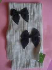 "KATE SPADE WINTER WOOL SCARF GROSGRAIN BOWS ""CALL YOUR MOM"" NEW"
