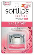 [MENTHOLATUM] SOFTLIPS Cube 5 in 1 Lip Care STRAWBERRY Lip Balm SPF15 NEW