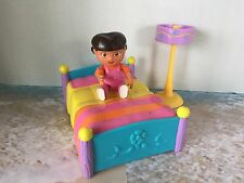 DORA THE EXPLORER TALKING DOLL HOUSE FURNITURE DORA'S BED POLE LAMP DORA FIGURE