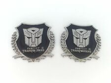 Car Metal Badge Emblem Sticker Transformers Autobot sliver 3D Logo ×2 best metal