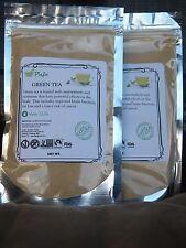 GREEN TEA powder 4oz 1/4lb, water soluble, stress relief, MATCHA ,KOMBUcha