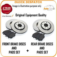 16824 FRONT AND REAR BRAKE DISCS AND PADS FOR TOYOTA AVENSIS 2.2D-4D 1/2009-