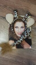 Jungle Party - Giraffe Ears Headband and Tail set - Dressing up - Free Post Uk