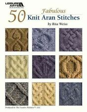 NEW 50 Fabulous Knit Aran Stitches by Rita Weiss Paperback Book (English) Free S