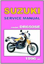 SUZUKI Workshop Manual DR650 DR650SE 1996 1997 1998 1999 Service and Repair