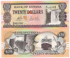 Guyana  - 20 dollars   Xf currency note
