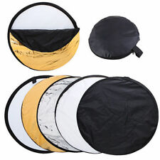 5 in1 Panel 60cm Mulit Disc Collapsible Light Reflector Diffuser for Photography