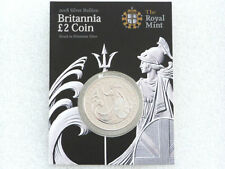 2008 Royal Mint Britannia Bullion £2 Two Pound Silver 1oz Coin Mint Card