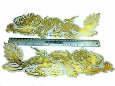 TWIN TITAN GOLDEN CHINESE DRAGON STICKER DECALS EMPOWER WEALTHY HEALTHY LUCKY