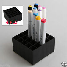 4PCS Plastic Desk Stand Marker Storage Case Tray Holder Organizer 100 Slot Empty