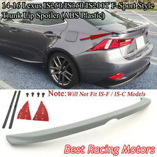 F-Sport Style Rear Trunk Spoiler Wing (ABS) Fits 14-16 IS200T IS250 IS300 IS350