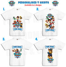 Paw patrol Personalised Kids T Shirt 9 DESIGNS all sizes 4 designs Ryder