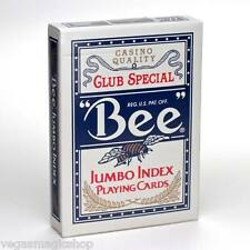 """Bee"" Jumbo Index Blue Deck Playing Cards Poker Size USPCC Casino Quality Sealed"