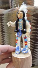 vtg Handcrafted DOLL 1969 represents Native American Indian Crow leather/beaded