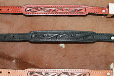 Tooled Leather Silver Buckle Bracelet Brown Black Western Fashion Jewelry Ladies