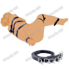 Costume Bondage Restraint BDSM Aid Bed Body Leg Strap Handcuff Belt Cuff 7 Pcs