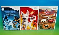 Bolt, Cars Mater-National Champ, Tron Battle Grids - Nintendo Wii 3 Games Disney