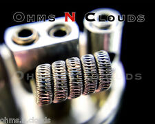 2 Staggered Fused Clapton coils (Ka A1 Micro coil RDA RBA Twisted drip mod)