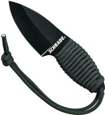 Schrade Full Tang Carbon Drop Point Neck Knife 550 Paracord Handle SCH406N NEW
