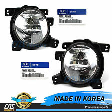 GENUINE Fog Light Fog Lamp Set LH RH for 10-12 Hyundai Santa Fe OEM 92201-2B500
