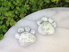 Miniature Dollhouse FAIRY GARDEN ~ GLOW in the DARK Pair of Paws Stepping Stones