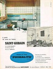 PUBLICITE ADVERTISING  1960   SAINT-GOBAIN   briques de verre PRIMALITH