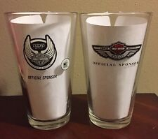 NEW HARLEY-DAVIDSON 100th & 105th Miller Lite Beer Glass Set/Lot of 2 Vtg 1903