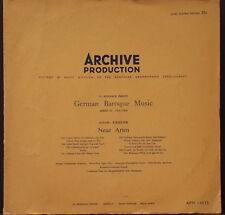 ARCHIVE PRODUCTION APM 14035 GERMAN BAROQUE MUSIC KRIEGER ORIG ENGLISH 1954 PRES