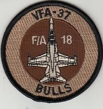 VFA-37 RAGIN' BULL DESERT F/A-18 SHOULDER  PATCH