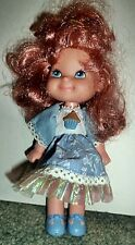 Mattel Cherry Merry Muffin Doll  Redhead in Blue Floral Dress Blue Shoes